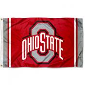 Ohio State Buckeyes Jersey Stripes Flag