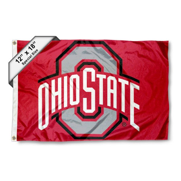 Ohio State Buckeyes Nautical Flag measures 12x18 inches, is made of two-ply nylon, offers double stitched flyends for durability, has two metal grommets, and is viewable from both sides. Our Ohio State Buckeyes Nautical Flag is officially licensed by the selected university and the NCAA and can be used as a motorcycle flag, golf cart flag, or ATV flag