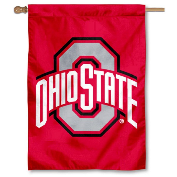 Ohio State Buckeyes Outdoor Flag is a vertical house flag which measures 28x42 inches, is made of 2 ply 100% polyester, offers dye sublimated NCAA team insignias, and has a top pole sleeve to hang vertically. Our Ohio State Buckeyes Outdoor Flag is officially licensed by the selected university and the NCAA
