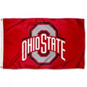 Ohio State Buckeyes Polyester Outdoor Large Flag