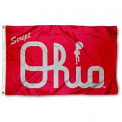 Ohio State Buckeyes Script Ohio 3x5 Flag