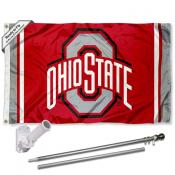 Ohio State Buckeyes Stripes Flag Pole and Bracket Kit