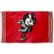 Ohio State Buckeyes Throwback Vault Logo Flag