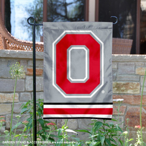 Ohio State Buckeyes Yard Flag is 13x18 inches in size, is made of 2-layer polyester, screen printed OSU Buckeyes athletic logos and lettering. Available with Same Day Express Shipping, Our Ohio State Buckeyes Yard Flag is officially licensed and approved by OSU and the NCAA.