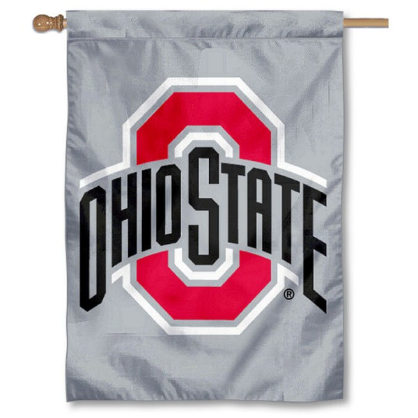 Ohio State Gray New Logo 2 Sided Banner is a vertical house flag which measures 28x40 inches, is made of 2 ply 100% nylon, offers screen printed NCAA team insignias, and has a top pole sleeve to hang vertically. Our Ohio State Gray New Logo 2 Sided Banner is officially licensed by the selected university and the NCAA.