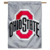 Ohio State Gray New Logo 2 Sided Banner