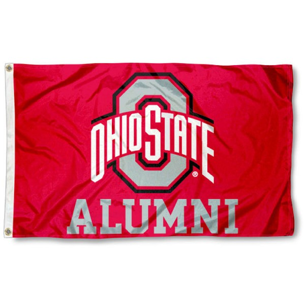 Ohio State University Alumni Flag measures 3'x5', is made of 100% poly, has quadruple stitched sewing, two metal grommets, and has double sided Ohio State University logos. Our Ohio State University Alumni Flag is officially licensed by the selected university and the NCAA.