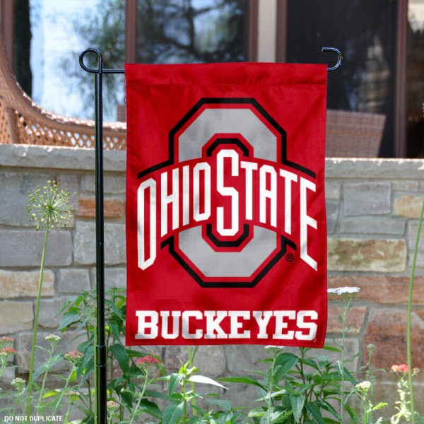 Ohio State University Buckeyes Garden Flag is 13x18 inches in size, is made of 2-layer polyester, screen printed university athletic logos and lettering, and is readable and viewable correctly on both sides. Available same day shipping, our Ohio State University Buckeyes Garden Flag is officially licensed and approved by the university and the NCAA.