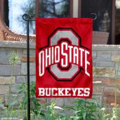 Ohio State University Buckeyes Garden Flag