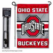 Ohio State University Garden Flag and Stand