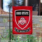 Ohio State University Go Buckeyes Shield Garden Flag