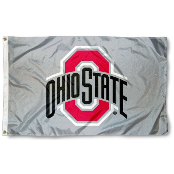 This Ohio State University Gray Flag measures 3'x5', is made of 100% nylon, has quad-stitched sewn flyends, and has two-sided Ohio State University Gray printed logos. Our Ohio State University Gray Flag is officially licensed and all flags for Ohio State University are approved by the NCAA and Same Day UPS Express Shipping is available.