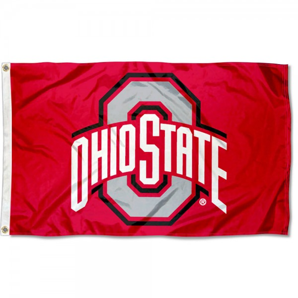 Ohio State University Nylon Flag is 3x5 feet in size, is constructed of nylon, has four-stitched fly ends, and the university logos are screen printed into the Ohio State University Nylon Flag. Our Ohio State University Nylon Flag is approved by the selected university and the NCAA.