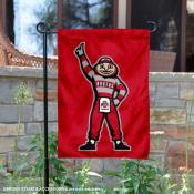 Ohio State University Standing Brutus Garden Flag