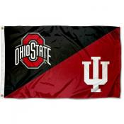 Ohio State vs Indiana House Divided 3x5 Flag