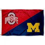 Ohio State vs Michigan House Divided 3x5 Flag