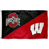 Ohio State vs Wisconsin House Divided 3x5 Flag