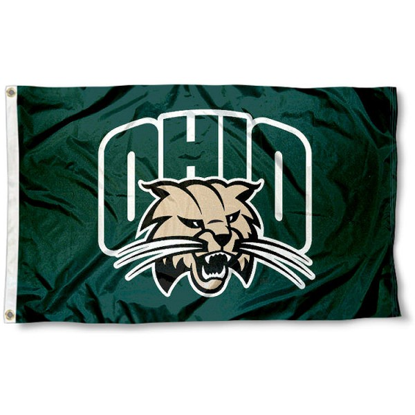 Ohio University Flag measures 3'x5', is made of 100% poly, has quadruple stitched sewing, two metal grommets, and has double sided Ohio University logos. Our Ohio University Flag is officially licensed by the selected university and the NCAA