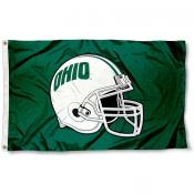 Ohio University Football Helmet Flag