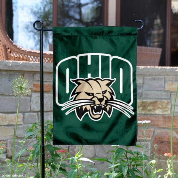 Ohio University Garden Flag is 13x18 inches in size, is made of 2-layer polyester, screen printed Ohio University athletic logos and lettering. Available with Same Day Express Shipping, Our Ohio University Garden Flag is officially licensed and approved by Ohio University and the NCAA.