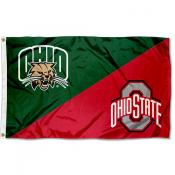Ohio vs Ohio State House Divided 3x5 Flag