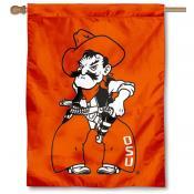 OK State Pistol Pete Logo Banner Flag