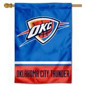 Oklahoma City Thunder Logo Double Sided House Flag