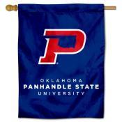 Oklahoma Panhandle State Aggies Logo Double Sided House Flag
