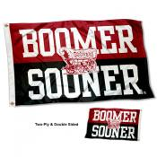 Oklahoma Sooners Boomer Sooner Double Sided Flag