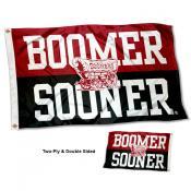 Oklahoma Sooners Boomer Sooner Double Sided Flag