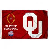 Oklahoma Sooners CFP College Football Playoff Semifinal Game Flag