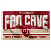 Oklahoma Sooners Fan Man Cave Game Room Banner Flag