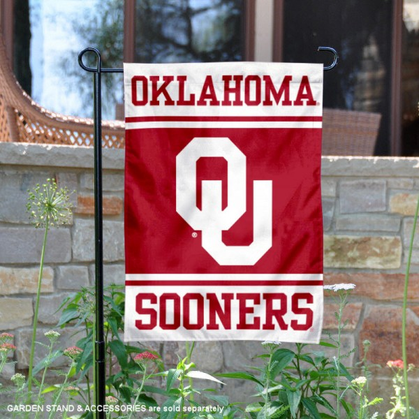 Oklahoma Sooners Garden Flag is 13x18 inches in size, is made of 2-layer polyester, screen printed logos and lettering. Available with Same Day Express Shipping, Our Oklahoma Sooners Garden Flag is officially licensed and approved by the NCAA.