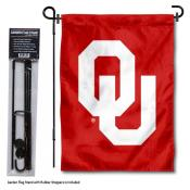 Oklahoma Sooners Garden Flag and Pole Stand Mount