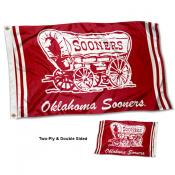 Oklahoma Sooners Throwback Double Sided Flag