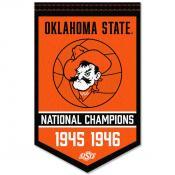 Oklahoma State Cowboys Basketball National Champions Banner