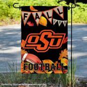 Oklahoma State Cowboys Fall Football Autumn Leaves Decorative Garden Flag