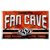 Oklahoma State Cowboys Fan Man Cave Game Room Banner Flag
