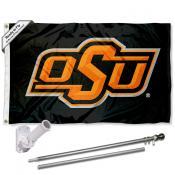 Oklahoma State Cowboys Flag Pole and Bracket Kit