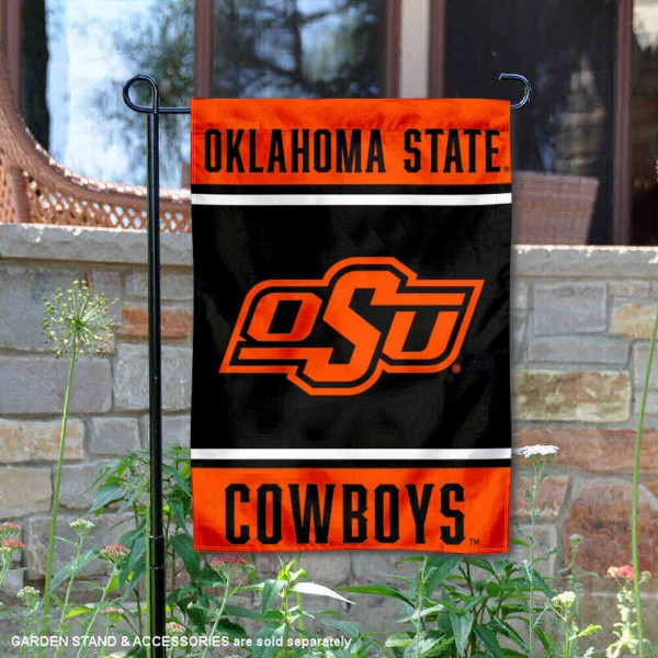 Oklahoma State Cowboys Garden Flag is 13x18 inches in size, is made of 2-layer polyester, screen printed logos and lettering. Available with Same Day Express Shipping, Our Oklahoma State Cowboys Garden Flag is officially licensed and approved by the NCAA.