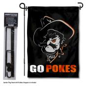 Oklahoma State Cowboys Go Pokes Garden Flag and Pole Stand Mount