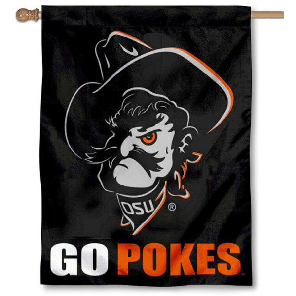 Oklahoma State Cowboys GO POKES House Flag is a vertical GO POKES House Flag which measures 30x40 inches, is made of 2 ply 100% polyester, offers screen printed NCAA team insignias, and has a top pole sleeve to hang vertically. Our Oklahoma State Cowboys GO POKES House Flag is officially licensed by the selected university and the NCAA.