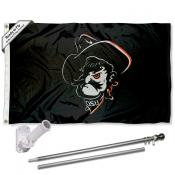 Oklahoma State Cowboys Pistol Pete Flag Pole and Bracket Kit