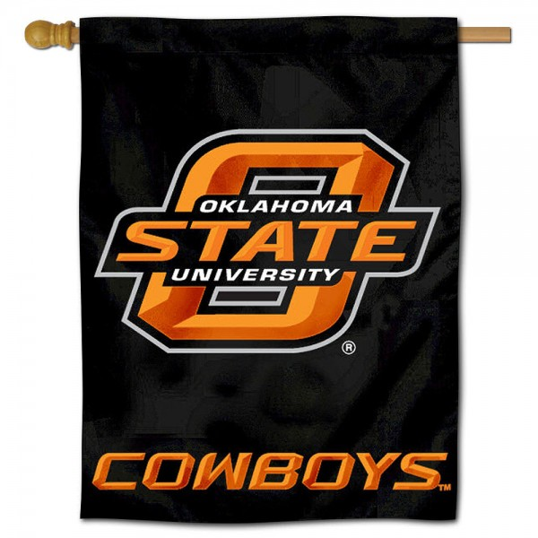 "Oklahoma State University Cowboys Decorative Flag is constructed of polyester material, is a vertical house flag, measures 30""x40"", offers screen printed athletic insignias, and has a top pole sleeve to hang vertically. Our Oklahoma State University Cowboys Decorative Flag is Officially Licensed by Oklahoma State University Cowboys and NCAA."