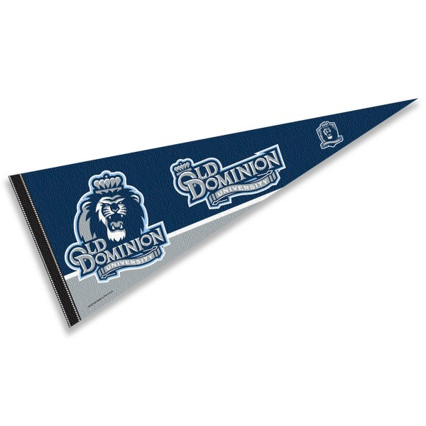 Old Dominion Monarchs Decorations consists of our full size pennant which measures 12x30 inches, is constructed of felt, is single sided imprinted, and offers a pennant sleeve for insertion of a pennant stick, if desired. This Old Dominion Monarchs Decorations is officially licensed by the selected university and the NCAA.