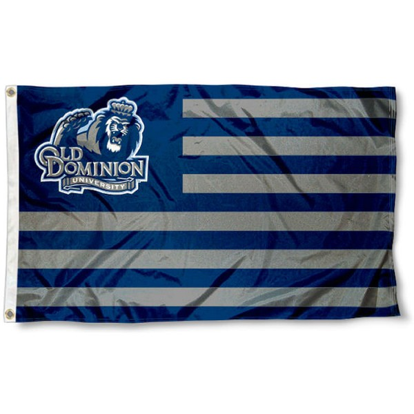 Old Dominion Monarchs Stripes Flag measures 3'x5', is made of polyester, offers double stitched flyends for durability, has two metal grommets, and is viewable from both sides with a reverse image on the opposite side. Our Old Dominion Monarchs Stripes Flag is officially licensed by the selected school university and the NCAA.