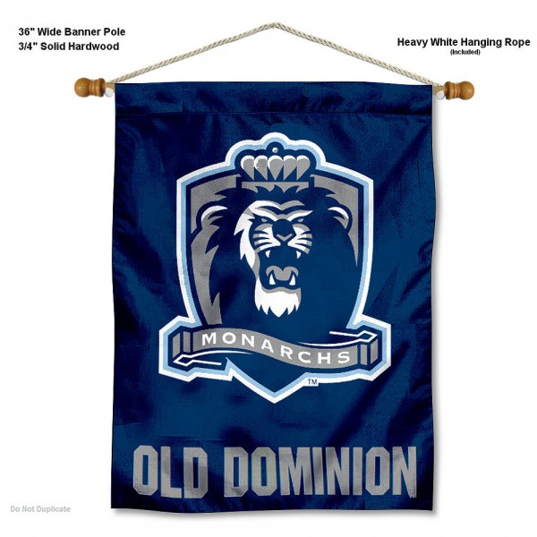 "Old Dominion Monarchs Wall Banner is constructed of polyester material, measures a large 30""x40"", offers screen printed athletic logos, and includes a sturdy 3/4"" diameter and 36"" wide banner pole and hanging cord. Our Old Dominion Monarchs Wall Banner is Officially Licensed by the selected college and NCAA."