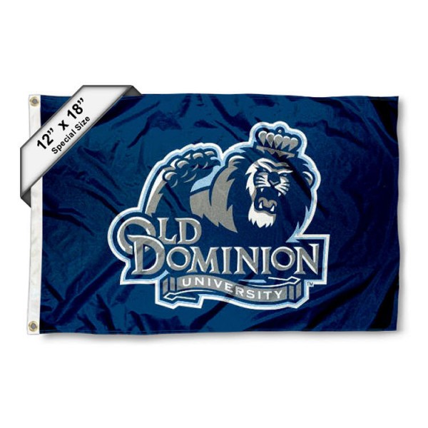 Old Dominion University Mini Flag is 12x18 inches, polyester, offers quadruple stitched flyends for durability, has two metal grommets, and is double sided. Our mini flags for Old Dominion University are licensed by the university and NCAA and can be used as a boat flag, motorcycle flag, golf cart flag, or ATV flag.