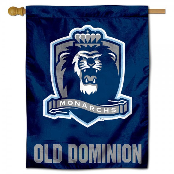 "Old Dominion University Monarchs House Flag is constructed of polyester material, is a vertical house flag, measures 30""x40"", offers screen printed athletic insignias, and has a top pole sleeve to hang vertically. Our Old Dominion University Monarchs House Flag is Officially Licensed by Old Dominion University Monarchs and NCAA."