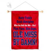 Ole Miss Banner with Suction Cup